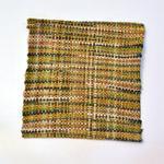 手織コースター(黄色4枚セット)