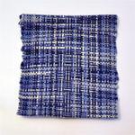 手織コースター(青色4枚セット)